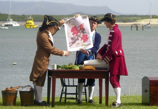 Captain Cook landing re enactment