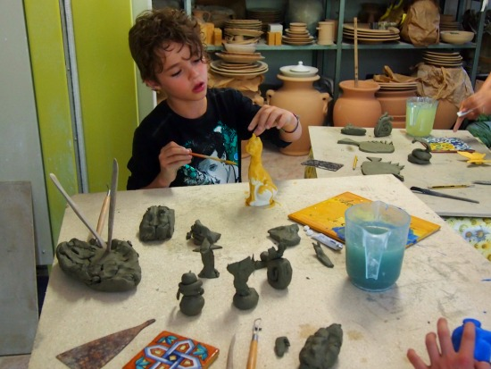 Pottery class in Italy
