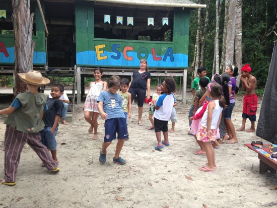 Playing with the kids at VivAmazonia