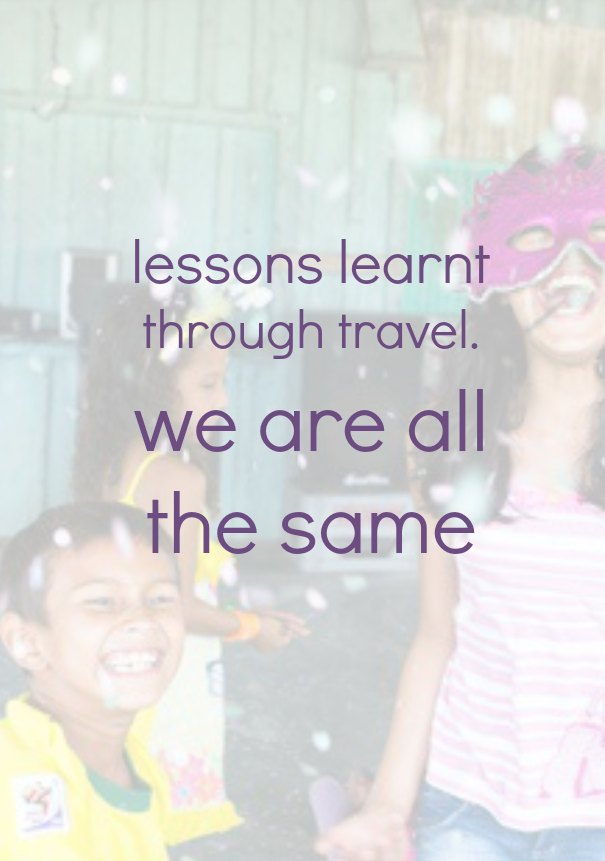 lessons learnt through travel