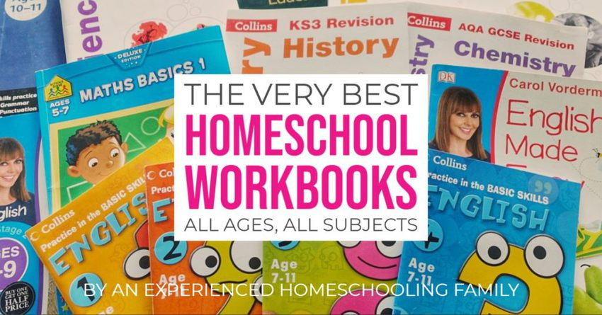 Best Homeschool Workbooks, age, grade, subject