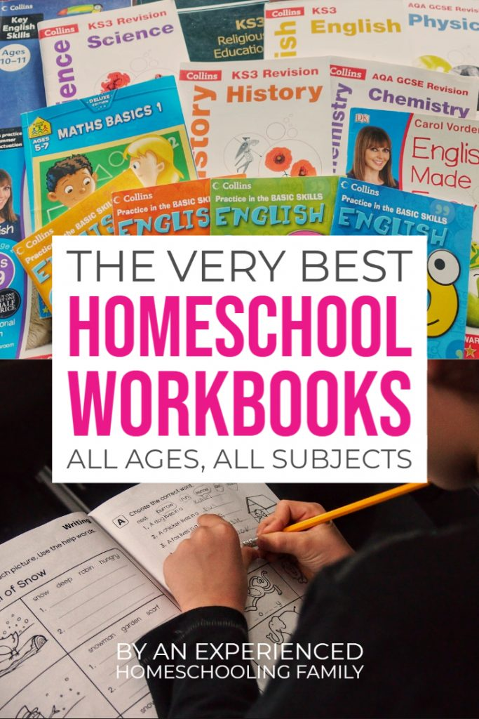 Best Homeschool Workbooks age grade subject