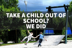 take a child out of school kids play on school day
